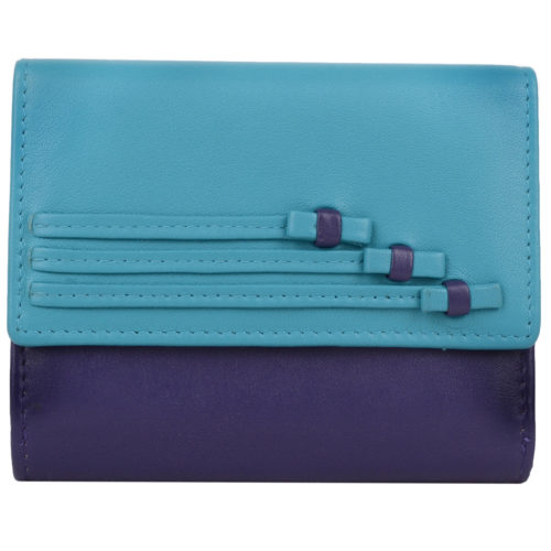 Genuine Soft Leather Purse with Bow Design - Anita