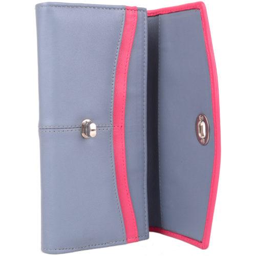 Soft Leather Multi-Colour Purse Twist Clasp Lock - Aria