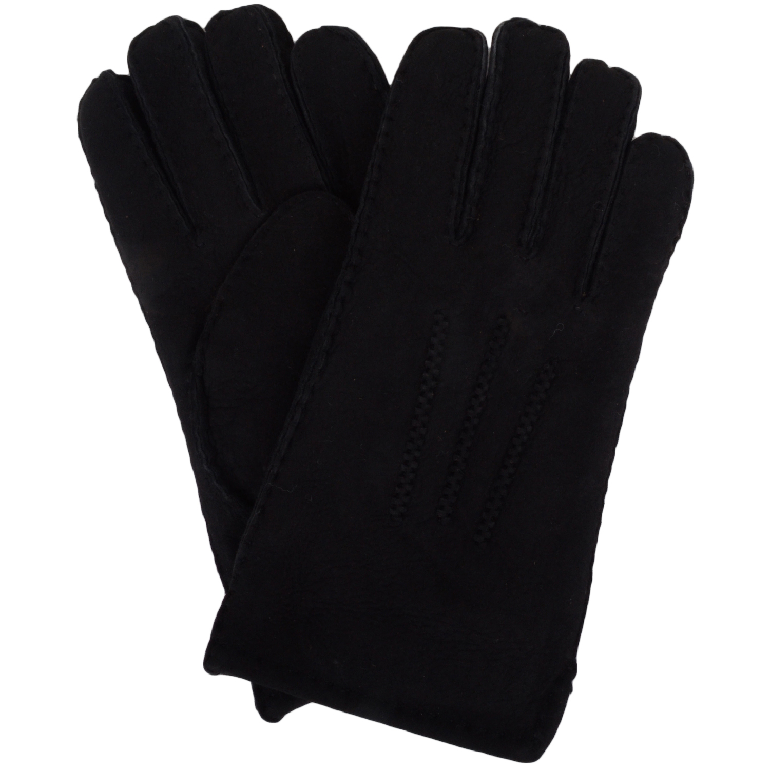 Full Sheepskin Gloves - Black