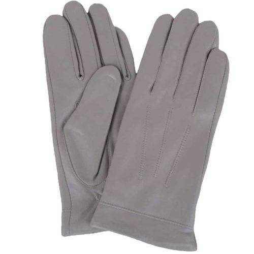 Snugrugs - Ladies Leather Fleece Lined Gloves – Grey