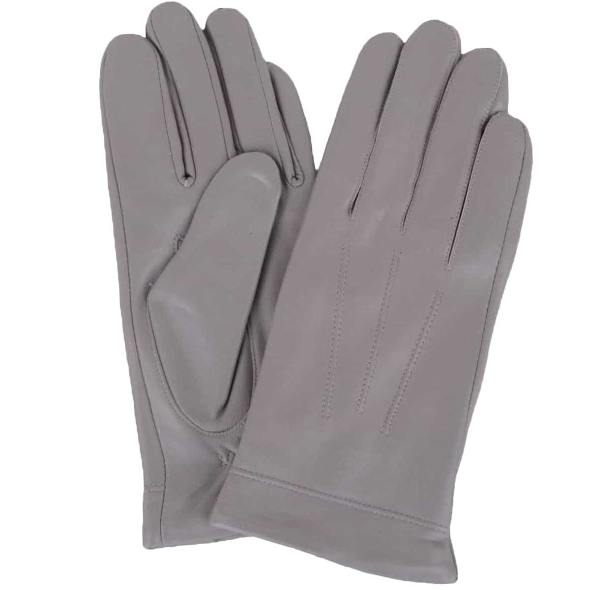 Snugrugs - Ladies Leather Fleece Lined Gloves – Grey