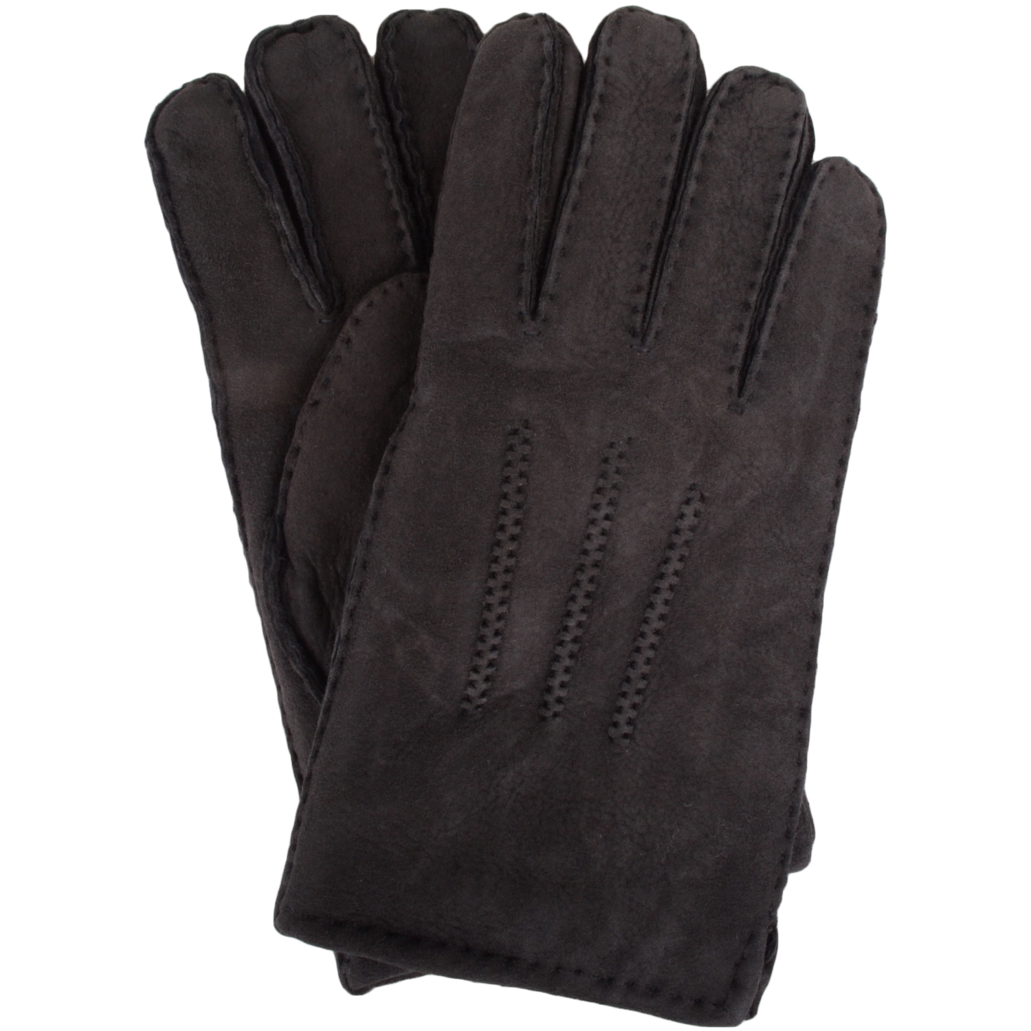 Full Sheepskin Gloves - Grey