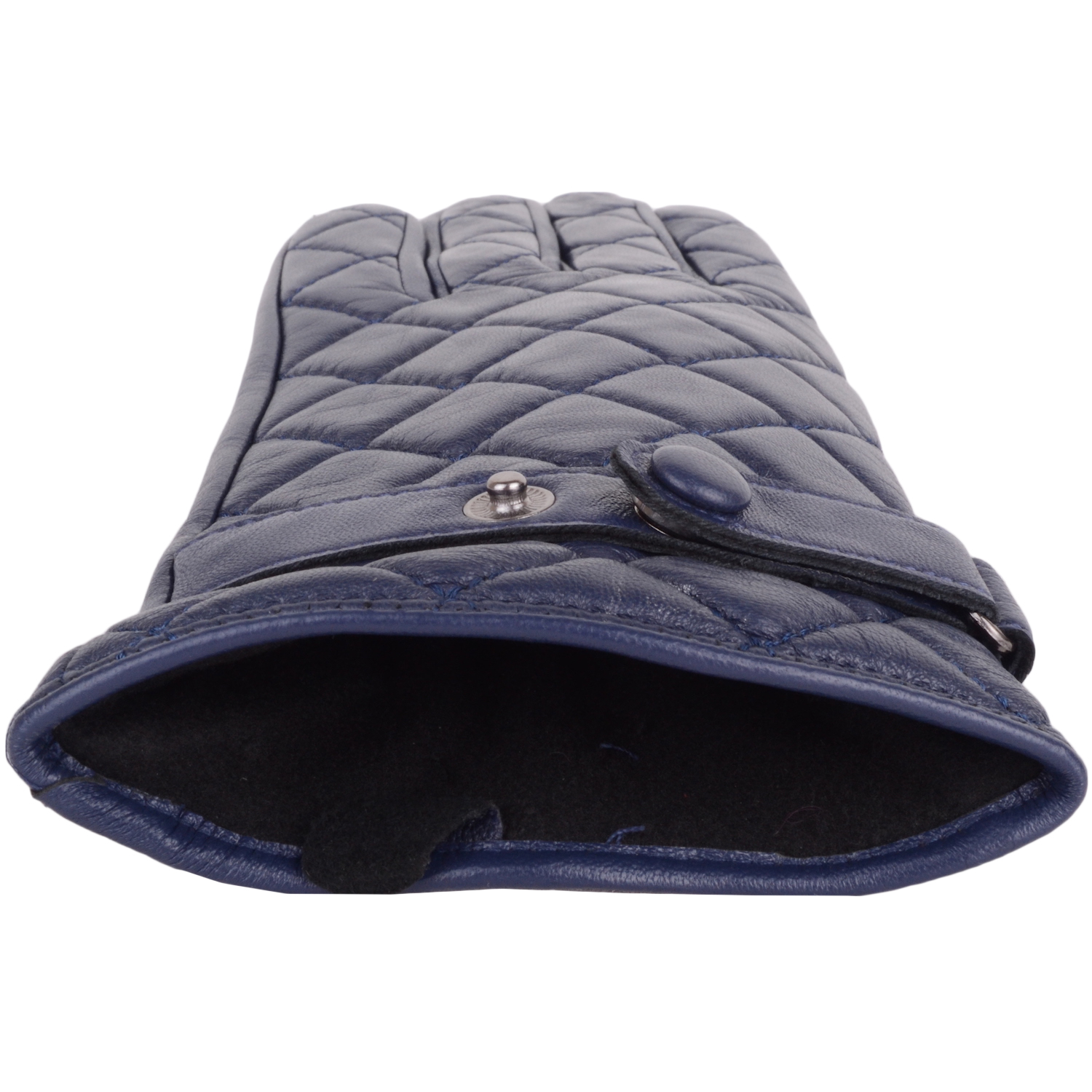 Snugrugs - Ladies Quilted Leather Gloves - Navy