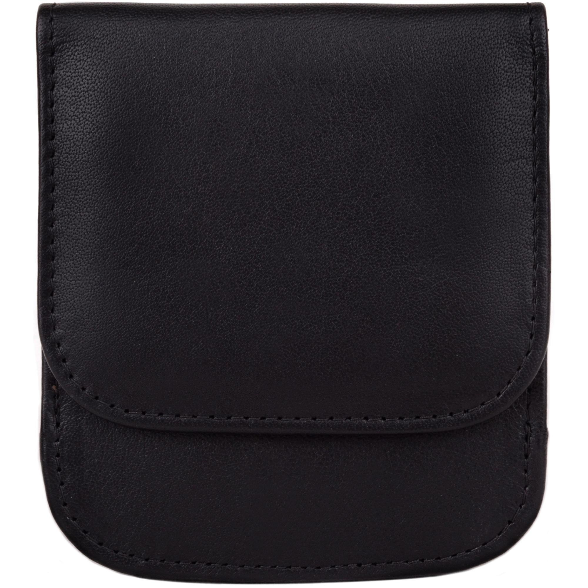 Soft Leather Coin Holder - Allie - Black