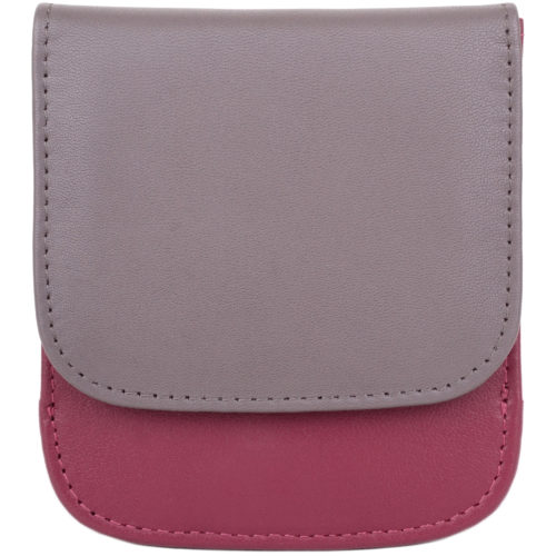 Soft Leather Coin Holder - Allie - Cranberry