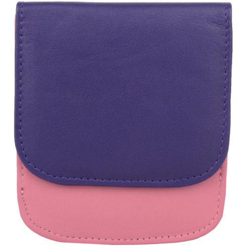 Soft Leather Coin Holder - Allie - Rose