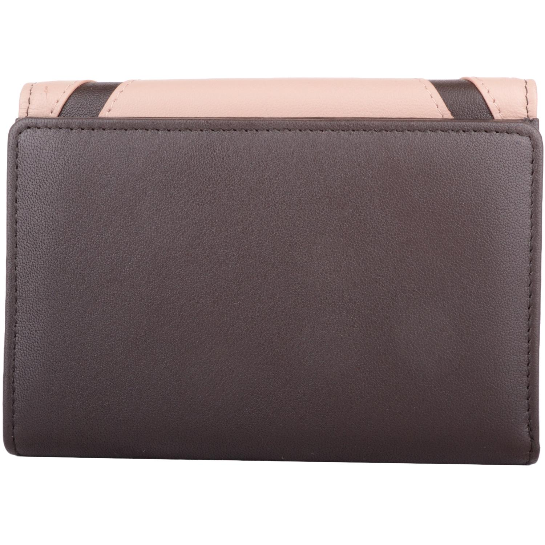 Soft Leather Bi-Fold Money Purse - Arlene - DarkTaupeCream