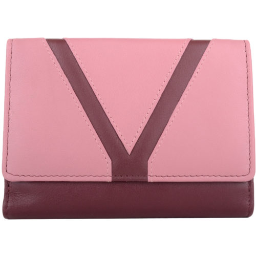 Soft Leather Bi-Fold Money Purse - Arlene - RaspberryRose