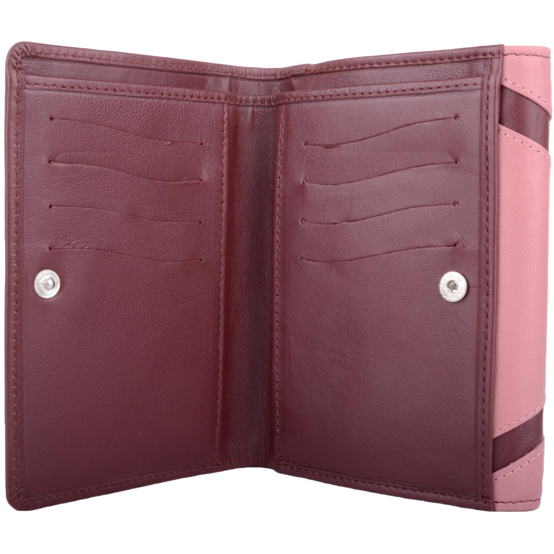 Soft Leather Bi-Fold Money Purse - Arlene - RaspberryRose