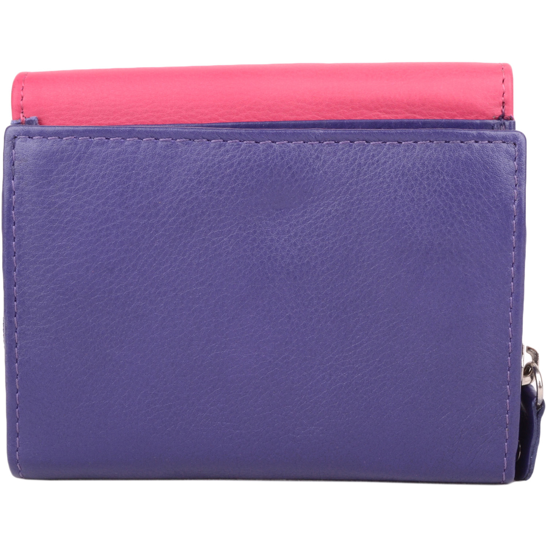 Bianca - Ladies Leather Tri-Fold Purse - Purple