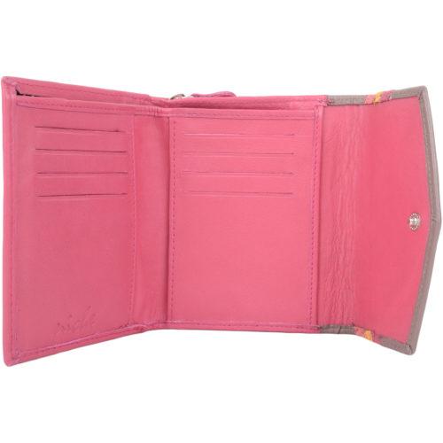 Bianca - Ladies Leather Tri-Fold Purse - Pink