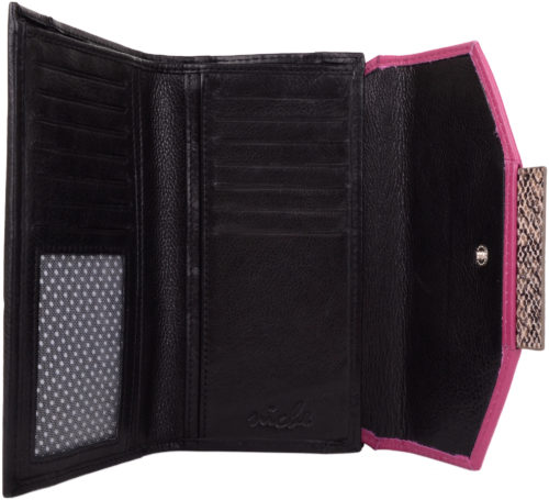 Super Soft Leather Purse with Multiple Features - Darcy - Black