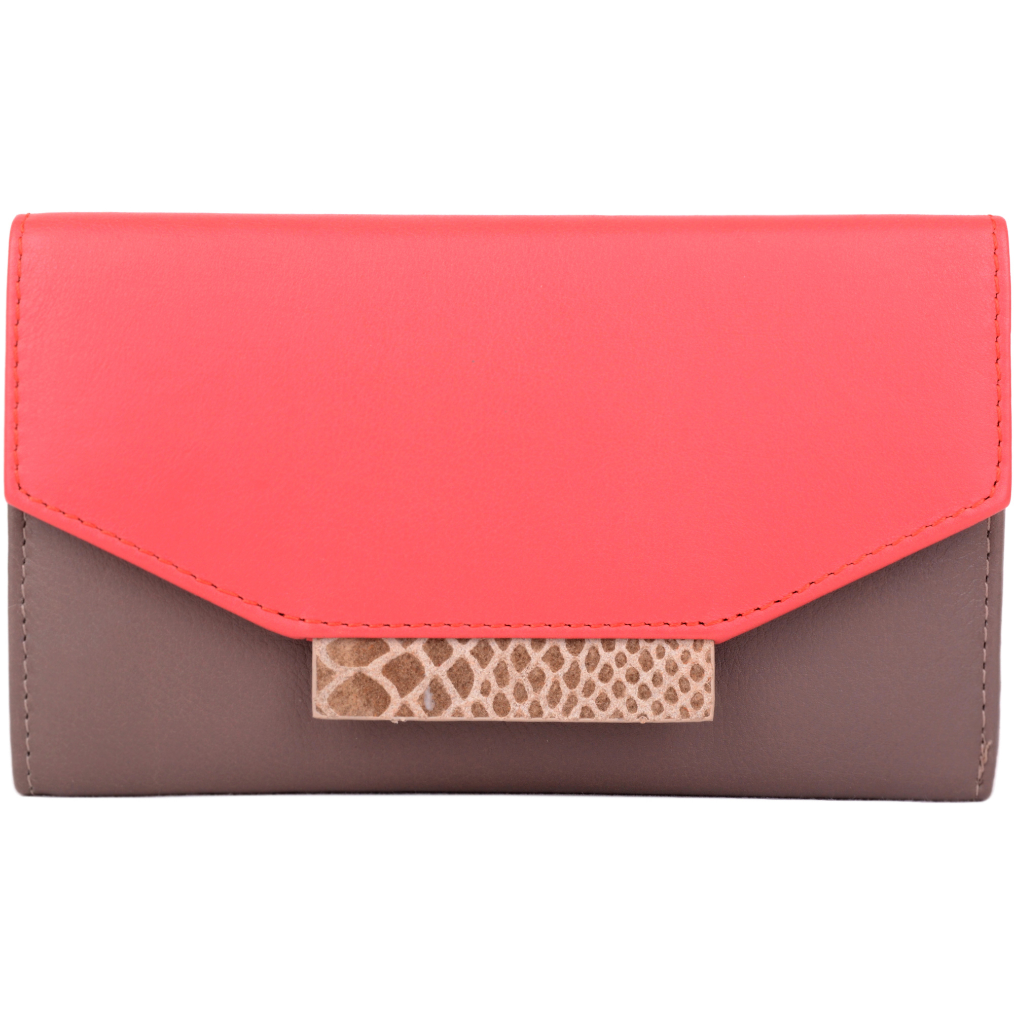Super Soft Leather Purse with Multiple Features - Darcy - Taupe