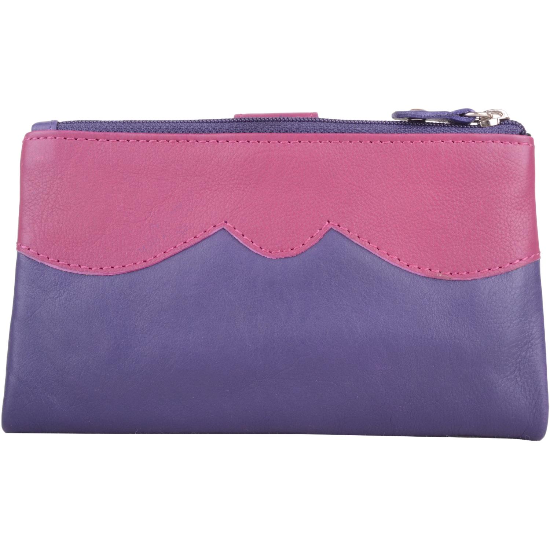Genuine Soft Leather Slim Bi-Fold Purse - Kylie - Purple