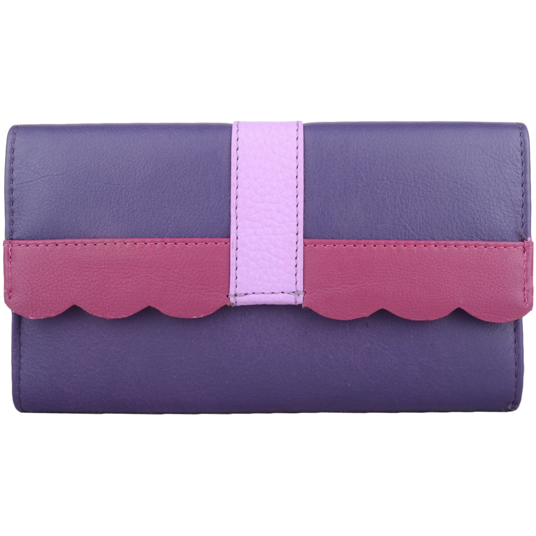 Large Genuine Soft Leather Purse - Laurel - Purple