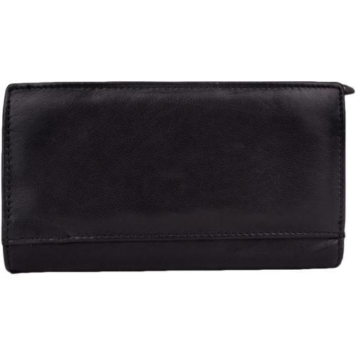 Super Soft Multi-Colour Bi-Fold Purse - Layla - Black