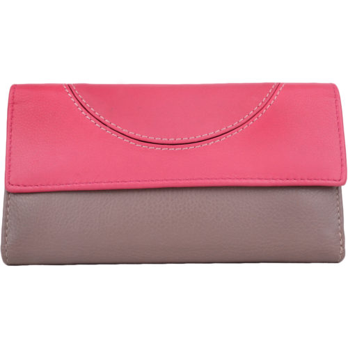 Super Soft Multi-Colour Bi-Fold Purse - Layla - Taupe