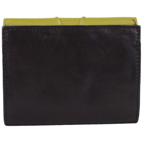 Leather Tri-Fold Purse - Willow - Black