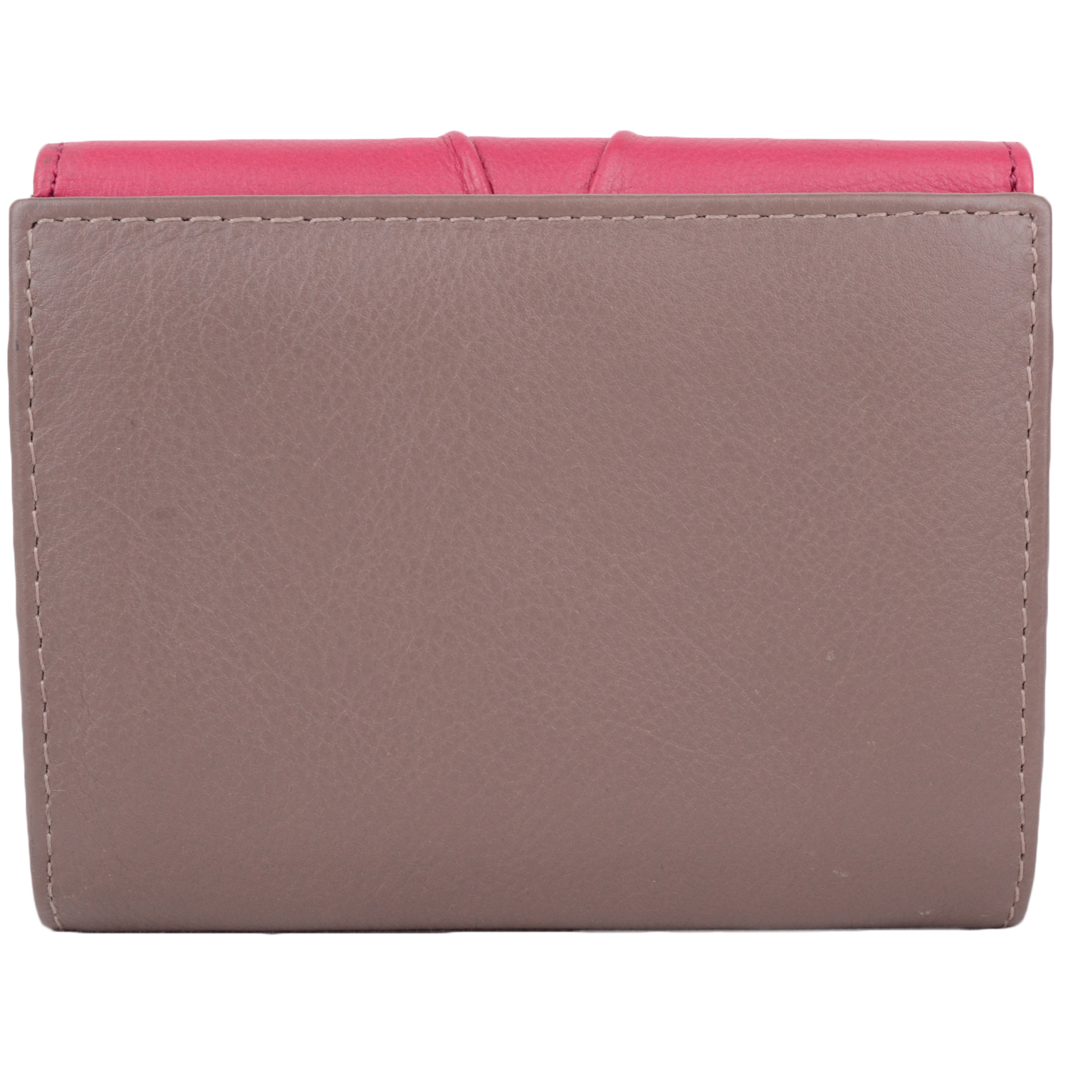 Leather Tri-Fold Purse - Willow - Taupe