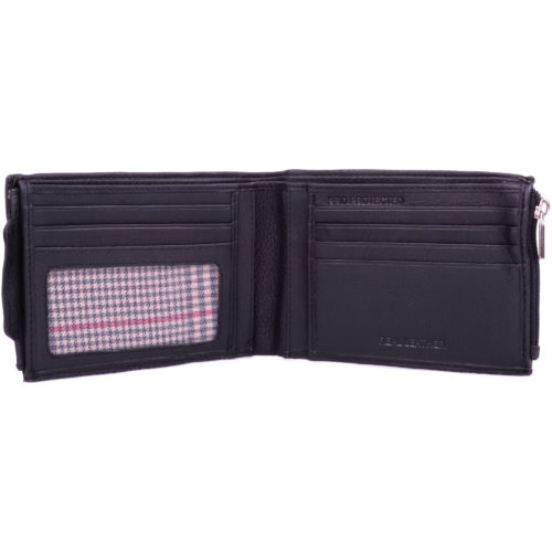 Leather Money Wallet RFID Protected - Black