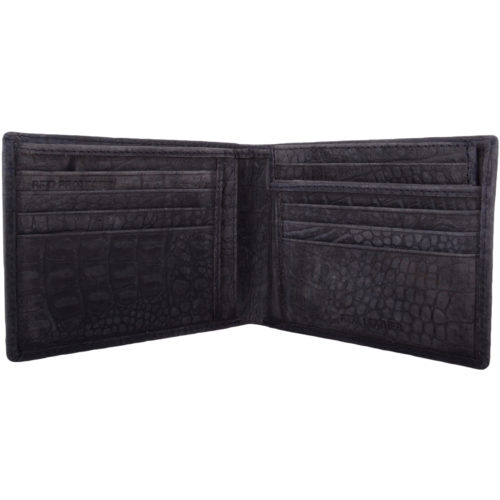 Leather Bi-Fold RFID Protected Money / Coin Holder - Navy