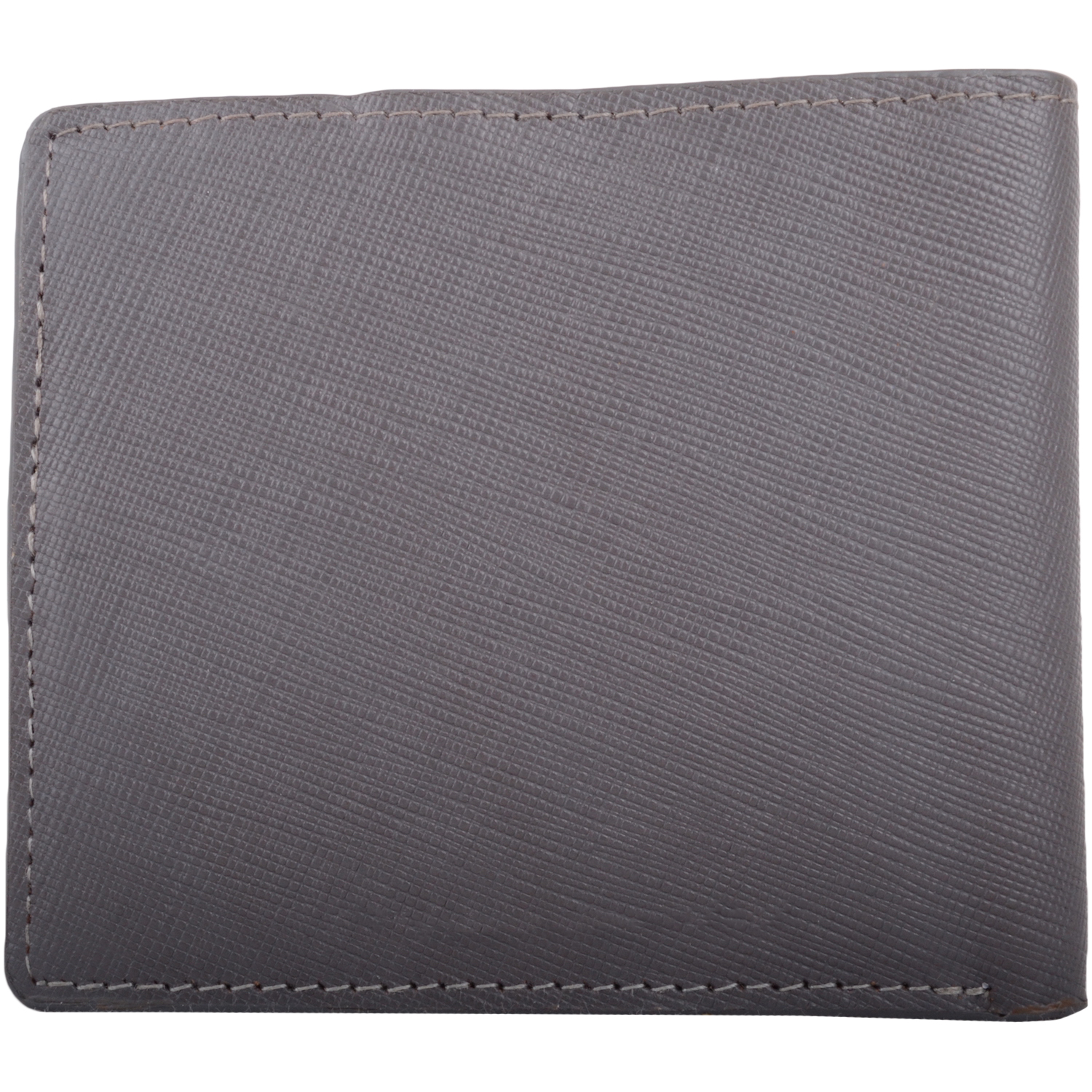 RFID Protected Bi-Fold Soft Leather Wallet - Grey/Red