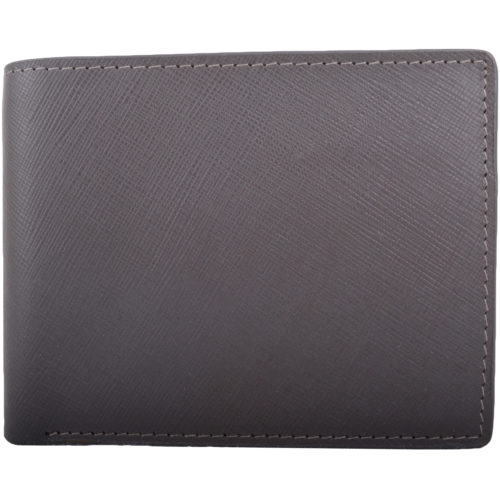 RFID Protected Leather Multi-Colour Wallet - Grey/Red