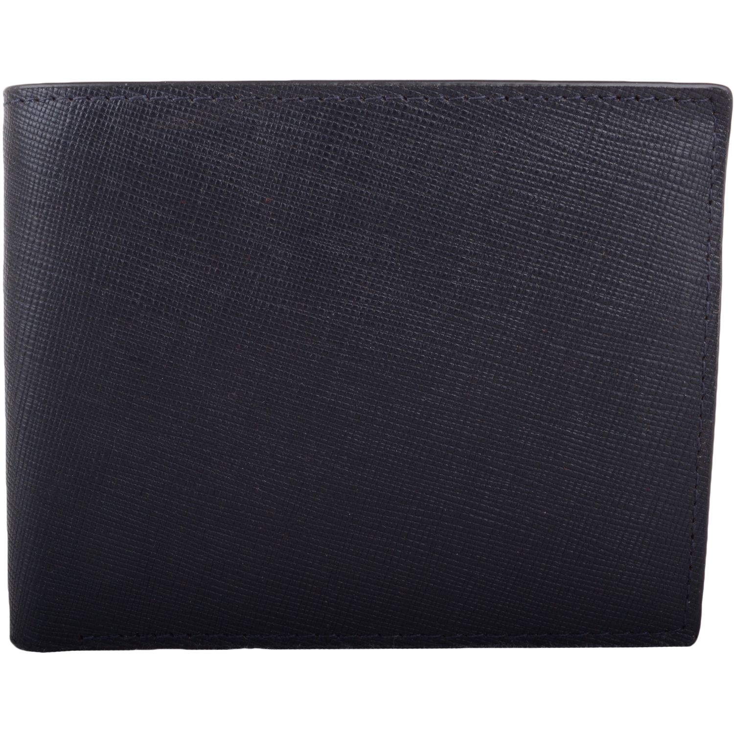 RFID Protected Leather Multi-Colour Wallet - Navy/Grey