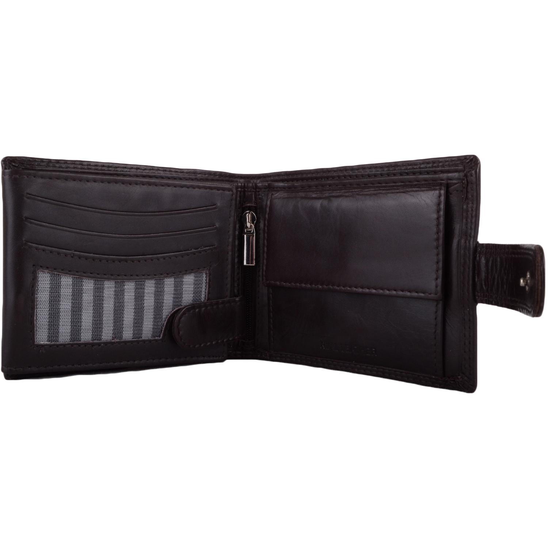 Soft Leather Bi-Fold RFID Protected Wallet - Dark Brown
