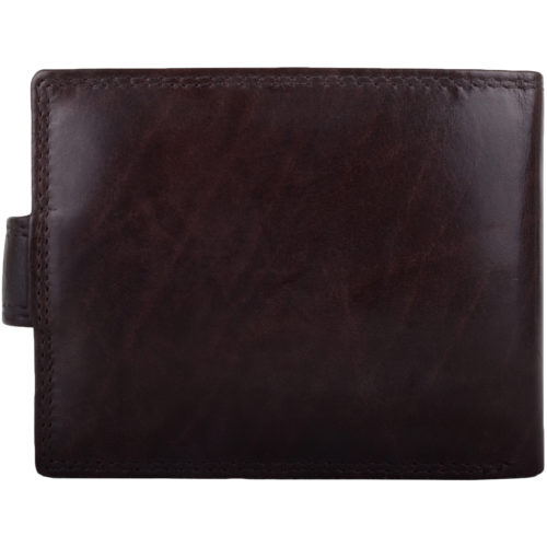 Leather Bi-Fold RFID Protected Wallet - Dark Brown