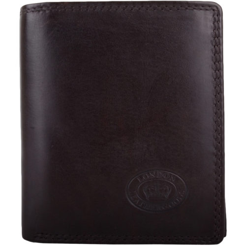 Leather RFID Protected Coin / Money Holder - Dark Brown