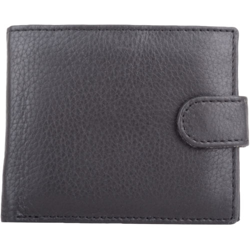 Leather Slim Bi-Fold Money / Coin Wallet - Ethan