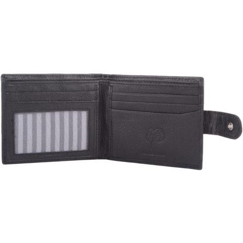 Leather Slim Bi-Fold Money / Coin Wallet - Ethan