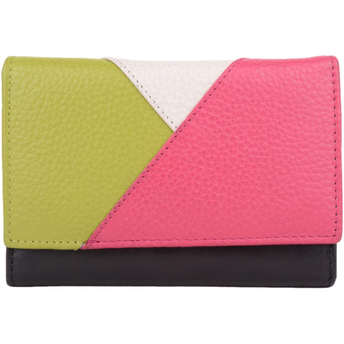 Leather Bi-Fold Multi-Colour Purse - Harriet