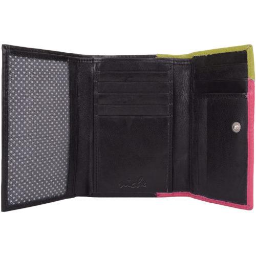 Leather Bi-Fold Multi-Colour Purse - Harriet