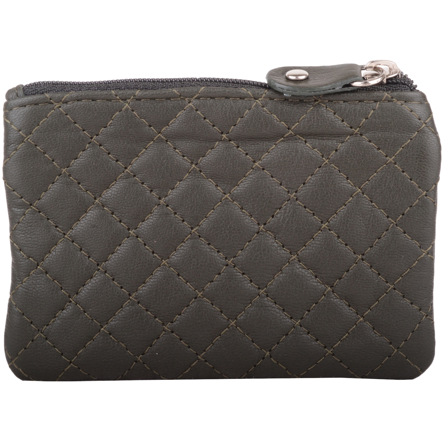 Soft Leather Quilted Detail Coin Purse - Heidi
