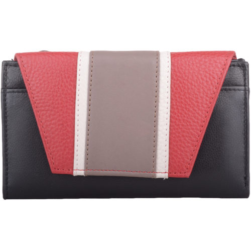 Genuine Soft Leather Tri-Fold Purse - Louisa