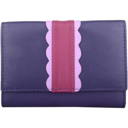 Soft Leather Multi-Colour Purse - Melanie