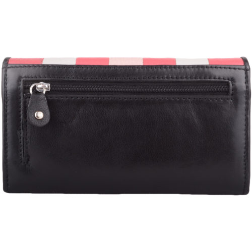 Soft Leather Purse Stripped Design - Tracy