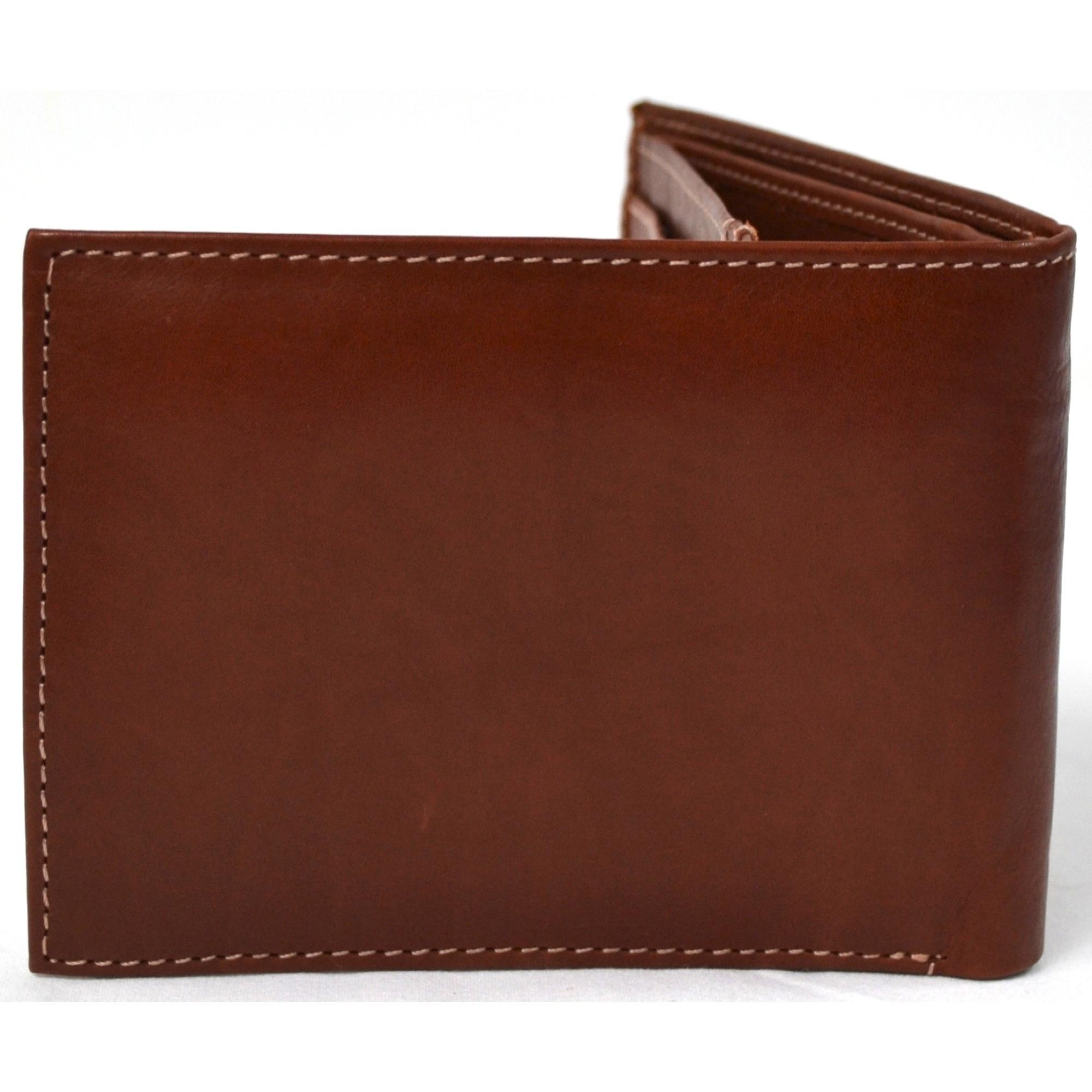 Genuine Leather Open Flap Wallet - Mark