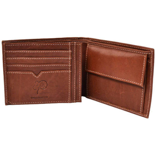 Genuine Leather Open Flap Wallet - Mark