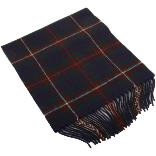 30cm x 185cm Lambswool Scarf - Country Check Navy