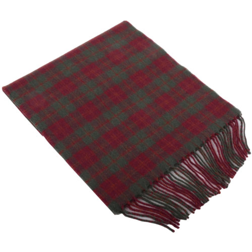 30cm x 185cm Lambswool Scarf - Country Check Autumn