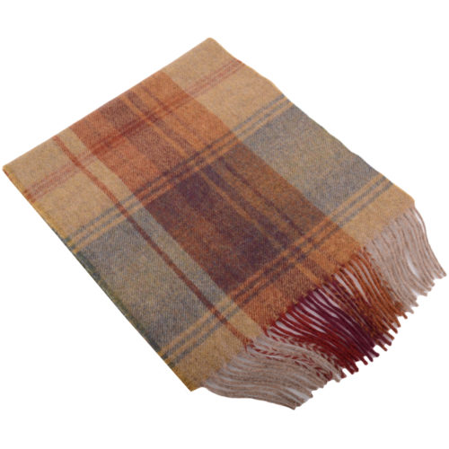 30cm x 185cm Lambswool Scarf - Country Check Jura