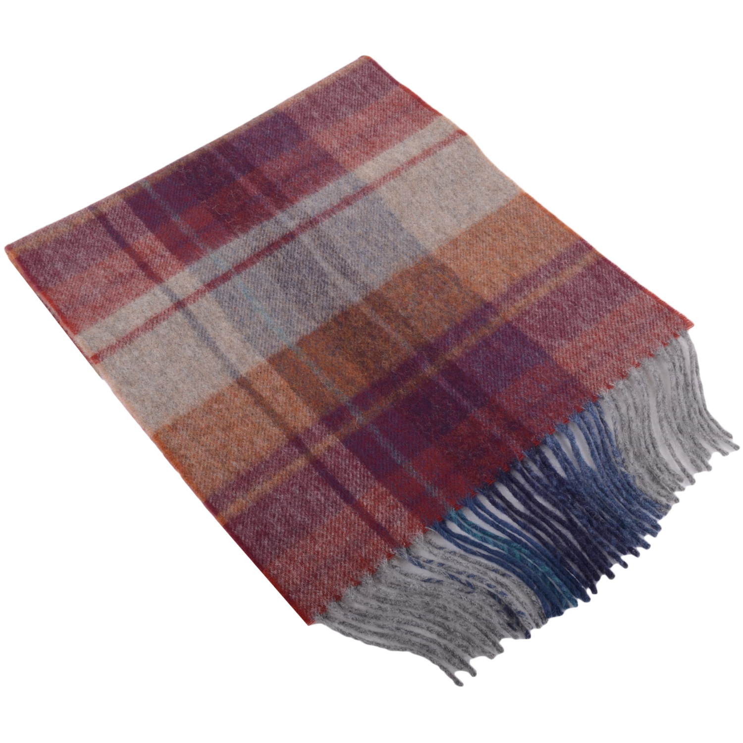 30cm x 185cm Lambswool Scarf - Country Check Arran