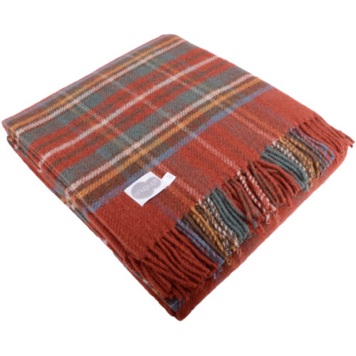 Lambswool Blanket 150cm x 183cm - Antique Royal Stewart