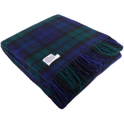 Lambswool Blanket 150cm x 183cm - Blackwatch