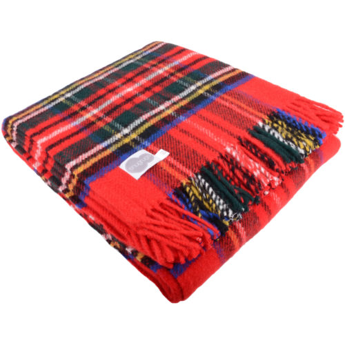 Lambswool Blanket 150cm x 183cm - Royal Stewart
